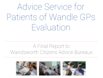 Citizens Advice Wandsworth the independent citizens advice bureau for people who live in the London borough of Wandsworth. Logo for pdf of our Advice Service for Patients of Wandle GPs evaluation report