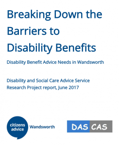 Image: Breaking Down the Barriers to Disability Benefits report cover.